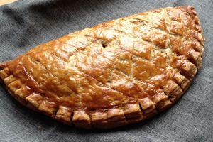 chausson géant pommes/rhum,pâte feuilletée spéculos