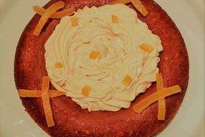 couronne à l'orange sanguine,crème à l'orange sanguine chantilly