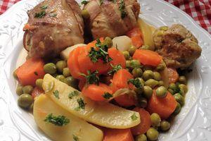 paupiettes de veau(ou poulet) maison en jardinière de légumes TM31