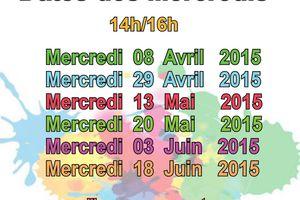 Dates des Mercredis Atelier cigogne