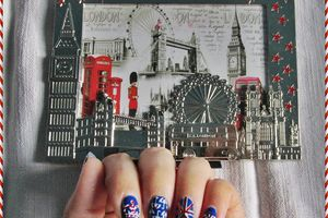 Nail art d'inspiration Angleterre