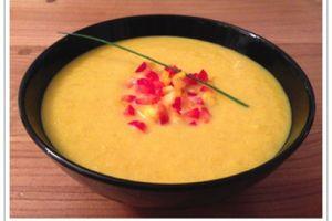 Crème de poivrons au curry