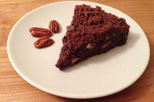 Brownie noir et noix de pécan de Philippe Conticini