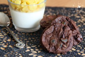 Biscuits Chocolat, Fleur de Sel & Ananas