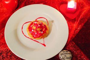 Saint-Valentin religieuse framboise  lychees