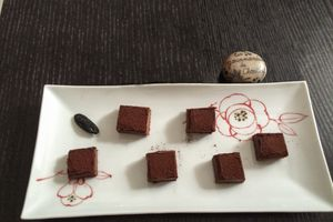 Ganache chocolat au lait et fève tonka