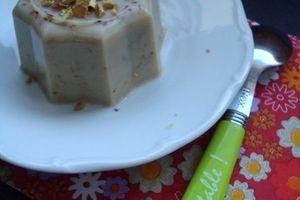 Flan express à la pâte de pistache