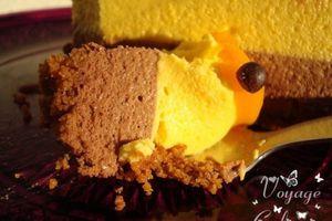 Bavarois mangue-chocolat pour fêter les 20 ans de ma boulette
