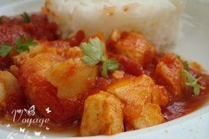 Cabillaud au curry et au gingembre