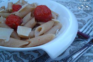 Pennes au blé complet et tomates rôties