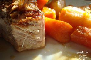 Rouelle de veau mijotée et ses petits légumes