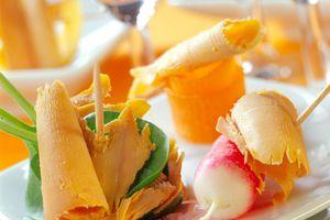 La farandole de légumes et fruits au Foie Gras
