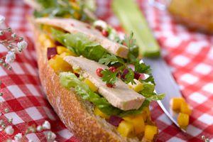 Tartines de Foie Gras aux fruits et légumes d'ici et d'ailleurs