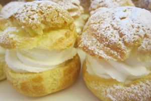 Choux Chantilly nature et chantilly nougat