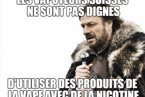 Le TAF juge que les vapoteurs n'ont pas un intérêt digne de protection à ce que les produits de vapotage nicotinés puissent être achetés en Suisse