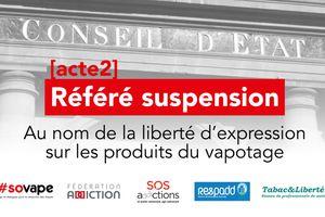Cinq associations font un nouveau recours auprès du conseil d'état sur la cigarette électronique et l'interdiction de pub