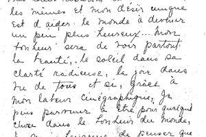 Un manuscrit : Mary PICKFORD écrit à ses admirateurs français en 1923