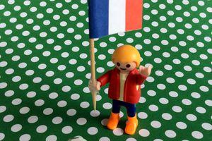Le drapeau tricolore à l'apéro