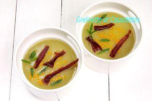 Parmentière de Poireaux Baguette au Curry , viande séchée...