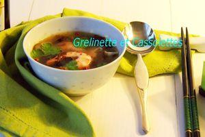 Soupe de Miso aux Crevettes et aux Shiitakés