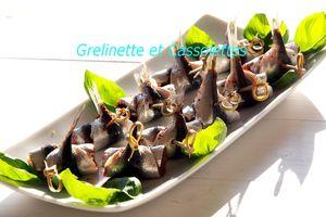 Sardines au Basilic et à la Tapenade