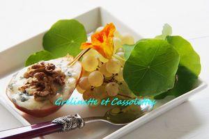 Poires Gratinées au Roquefort et aux Noix