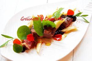 Canard aux Panais rôtis et Sauce à la Myrtille