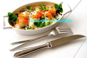 Filets de Carrelet pochés à la Crème d'Amandes