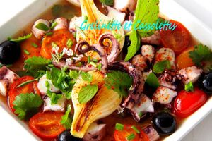 Salade de Poulpe au Chardonnay
