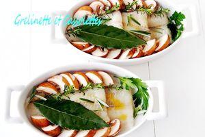 Carrelets en Cassolettes au Four, crème d'épeautre