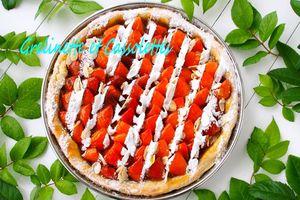 Tarte aux Abricots, à l'écume d'Abricots et à la Fève Tonka