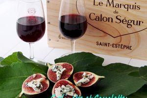 Figues au Roquefort et au Miel (Apéritif, bouchées sans pain)