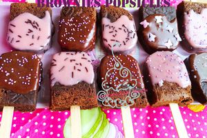 Brownies Popsicles  - Brownies en sucettes