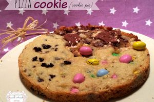 Pizza Cookie (cookie pie) ou Cookie géant