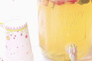 Citronnade à la fraise (detox water)