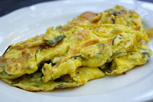 Omelette aux asperges sauvages