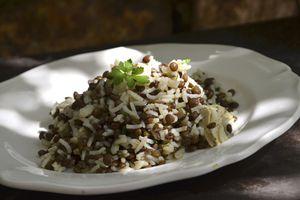Salade de riz aux lentilles