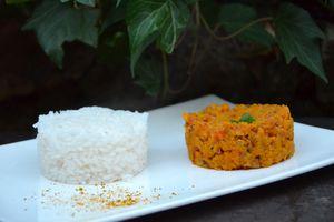Curry de lentilles corail au lait de coco (Inde)