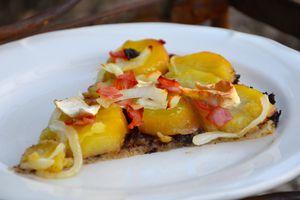 Pizza « blanche » aux pommes de terre