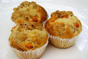 Muffins aux abricots et noisettes