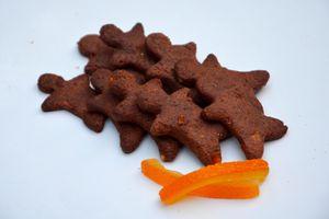 Sablés au chocolat et oranges confites