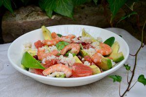 Salade vitaminée au crabe, pamplemousse et avocat