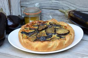 Quiche aux aubergines au curry