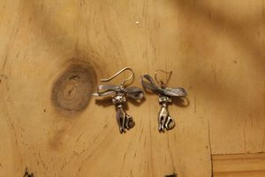 Boucles chat noeud 5 € (gris)