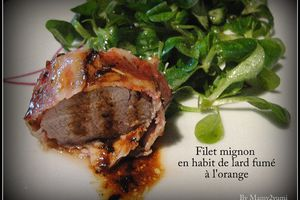 Filet mignon en habit de lard fumé, à l'orange