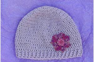 bonnet violet tendre