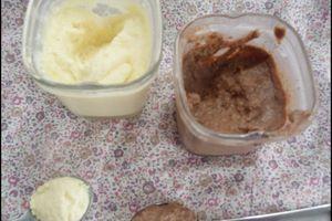 Crèmes dessert au chocolat blanc ou noir