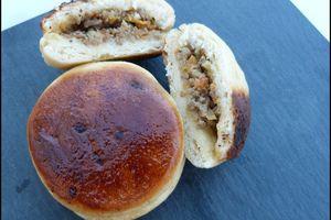Batbout (pains marocains farcis cuits à la poêle)