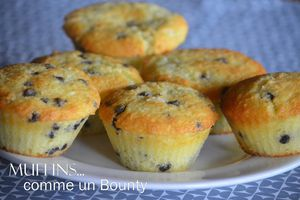 Muffins comme un bounty