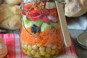 Petits pains express et salade en bocal...pour une pause déjeuner